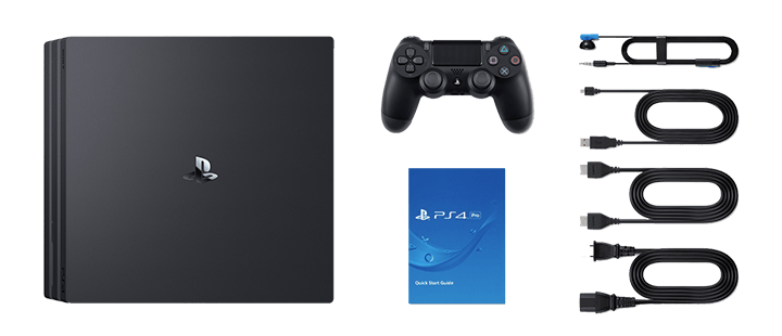 Items included in the PS4 Pro box