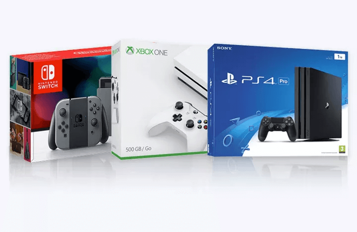 Nintendo Switch, Xbox One S and PS4 Pro