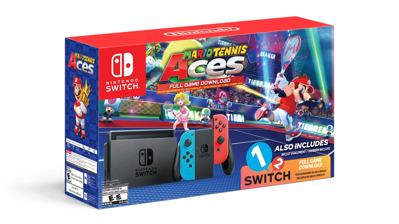 Nintendo Switch Mario Tennis Aces bundle