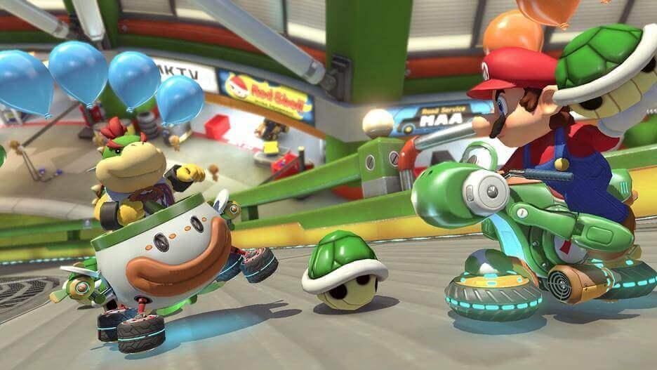 Mario Kart 8 Deluxe battle