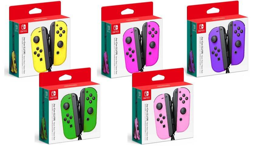 Coloured Joy-Con