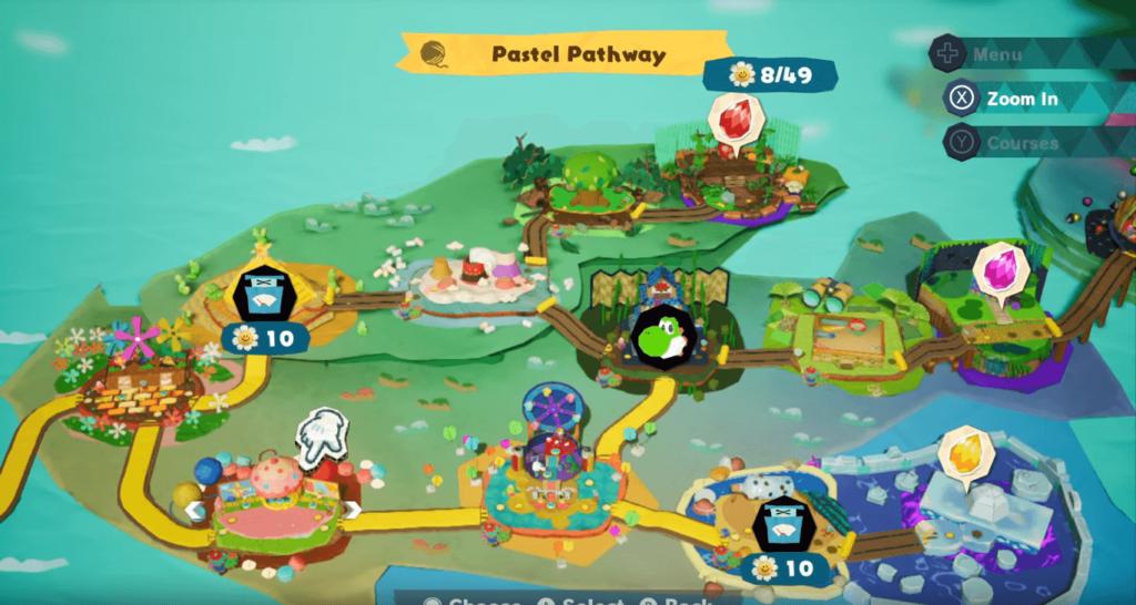 Yoshi crafted World map