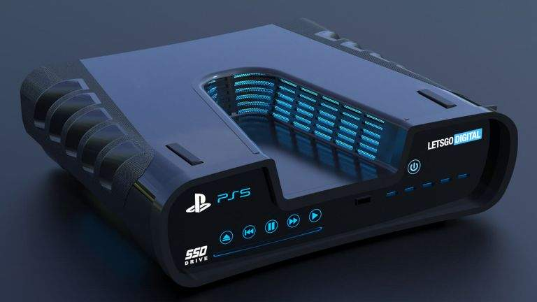 PS5 console mock up